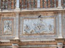 Квадрат Сан Marco с колокольней и базиликой Сан Marco Главная площадь старого городка Венеция, венето Италия стоковое изображение