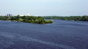 Wonderful Dnepr in calm weather. stock photography
