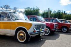 Киев, Украина - 30-ое сентября 2018: Автомобиль Lada Фестиваль OldCarLand стоковая фотография