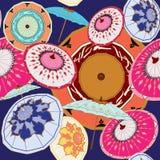 Китайские мульти-цвета зонтиков иллюстрация штока