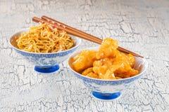 Китайский цыпленок лимона стоковая фотография