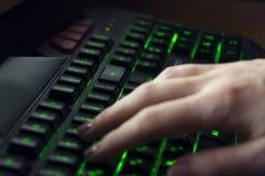 клавиатура светящая стоковое фото rf