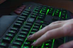 клавиатура светящая стоковая фотография rf