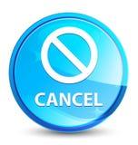 Кнопка выплеска отмены (значка знака запрета) естественная голубая круглая иллюстрация штока
