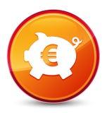 Кнопка значка знака евро копилки особенная стекловидная оранжевая круглая бесплатная иллюстрация