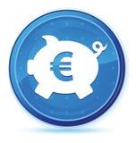 Кнопка полночи значка знака евро копилки голубая основная круглая бесплатная иллюстрация