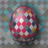 Кубистическое пасхальное яйцо стиля стоковые фотографии rf
