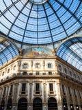 Куполок Galleria Vittorio Emanuele II в Милане стоковые изображения rf