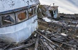 Куда рыбацкие лодки идут умереть стоковая фотография rf