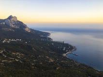 Красивая панорама seascape моря Состав природы в Крыме стоковое изображение rf