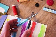 Красивая часть ножниц, элегантных и удобных стоковая фотография