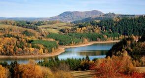 Красивая чехословакская природа осени стоковая фотография