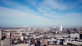 Красивый вид с воздуха городка России Казани во время зимы сток-видео