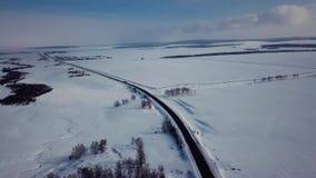 Красивый вид с воздуха городка России Казани во время зимы видеоматериал