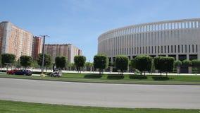 """Красивый парк вокруг стадиона """"Краснодар """" сток-видео"""