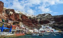 Красивый остров Santorini, Греция стоковая фотография rf