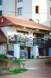 Красивое стильное кафе в городе Выборга стоковое изображение rf