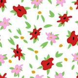 Красная и розовая картина цветков бесплатная иллюстрация