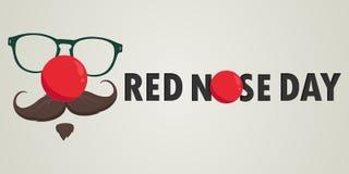 Красная карта вектора дня носа также вектор иллюстрации притяжки corel иллюстрация вектора