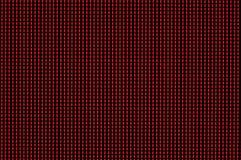 Красные пикселы освещенные на мониторе компьютера стоковая фотография