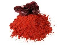 Красный порошок смолы дракона стоковое фото rf