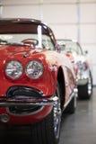 красный цвет corvette стоковое изображение