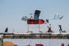 Красное событие Bull Flugtag на парке Yarkon стоковые фото