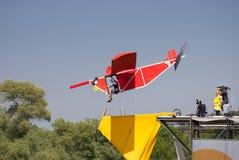 Красное событие Bull Flugtag на парке Yarkon стоковая фотография