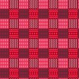 Красочные элементы племенной checkered безшовной картины, разделенные в орнаменты квадраты с полутоновым изображением красных цве стоковые изображения rf
