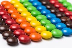 Красочные фасоли шоколада стоковые фото