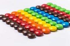 Красочные фасоли шоколада стоковая фотография rf