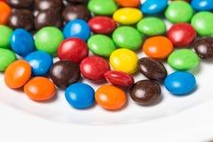 Красочные фасоли шоколада стоковые фотографии rf