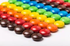Красочные фасоли шоколада стоковое изображение rf