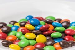 Красочные фасоли шоколада стоковое изображение