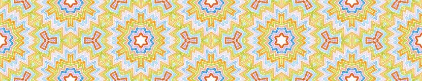 Красочный безшовный перечень границы Геометрическое Waterco иллюстрация штока