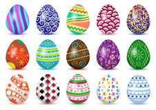 Красочный набор пасхальных яя с покрашенной тенью также вектор иллюстрации притяжки corel бесплатная иллюстрация