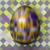 Красочное пасхальное яйцо в кубистическом стиле стоковая фотография