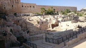 Крепостная стена города Иерусалима старая в Израиле стоковые изображения rf