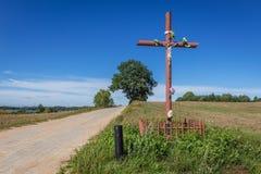 Крест обочины в Польше стоковое фото rf