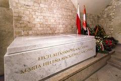 Крипта президента Lech a Kaczynski в Wawel - Краков, Польше стоковая фотография rf