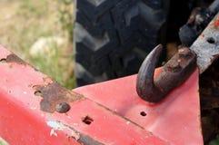 Крюк красивого автомобиля старые или тандер - взгляд сверху под дном стоковые фотографии rf