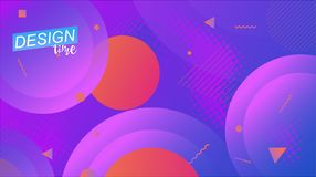 Vector minimal background. Digital modern page concept. Colorful posters, placards, brochures, banner, wallpaper royalty free illustration