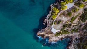 Крышка de Salou, пляж Dorada Косты - назначение перемещения в Испании стоковое фото