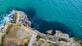 Крышка de Salou, пляж Dorada Косты - назначение перемещения в Испании стоковые фотографии rf