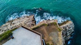 Крышка de Salou, пляж Dorada Косты - назначение перемещения в Испании стоковые фото
