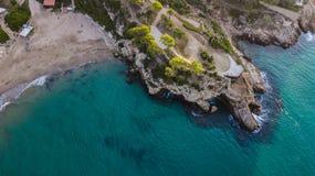 Крышка de Salou, пляж Dorada Косты - назначение перемещения в Испании стоковые изображения rf
