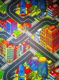 Ковер детей с дорогами большими стоковая фотография