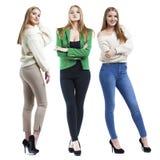 Коллаж 3 модели моды белокурых стоковые фотографии rf