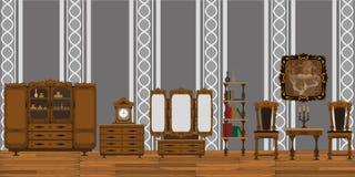 комната изображения 3d нутряная живущая иллюстрация вектора