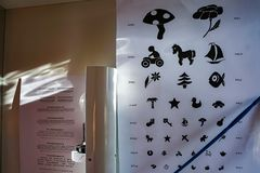 Комната рассмотрения глаза для детей стоковое изображение